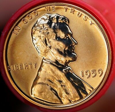 US 1959 Lincoln Cent  Proof Coin Deep Cameo Coin