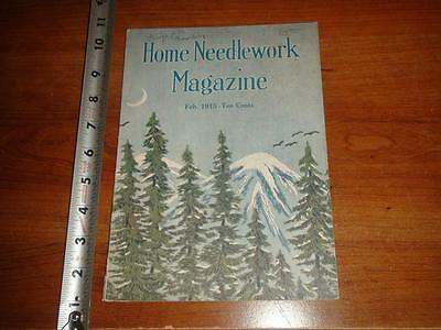 BW245 Vintage 1915 Home Needlework Magazine