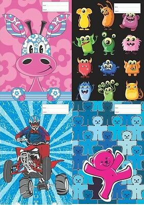 Reusable School Book Covers. Exercise (Small). Many Designs