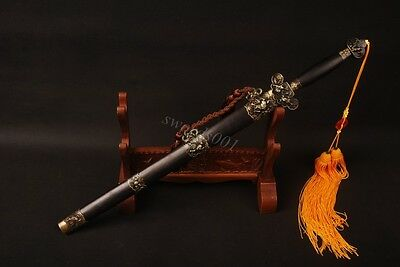 carbon steel Chinese sword with tassel double Bo-HI straight blade nice GIFT