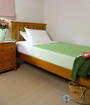 Brolly Sheets Single Bed Pad With Wings Lime