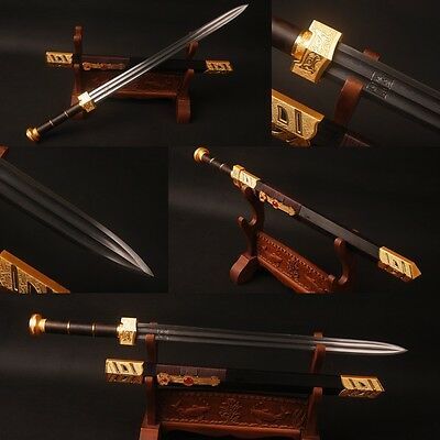 """Best gift """"如意"""" lucky sword Folded steel Chinese traditional decorate sword sharp"""