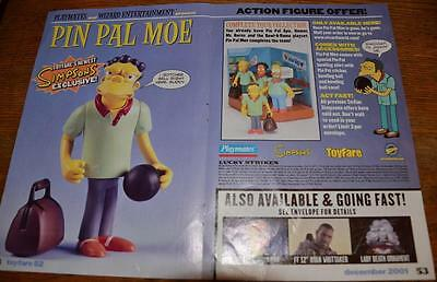 THE SIMPSONS rare Pin Pal Moe limited edition Playmates action figure toy order