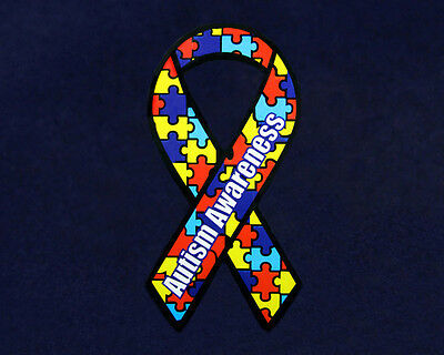 Autism Ribbon Magnet - Small (RETAIL)