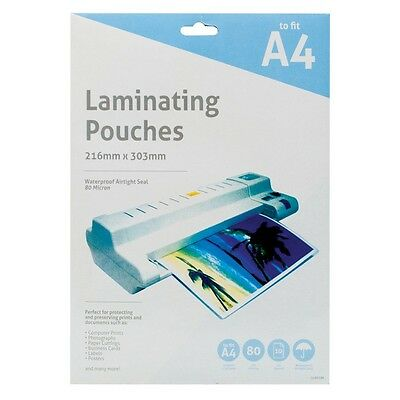 A4 Laminating Sheet Pouches Laminator Machine Clear Gloss Sleeves - 10,20 pack