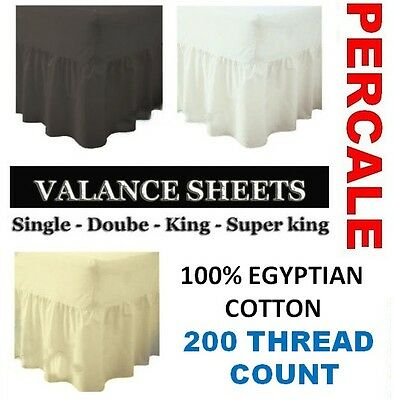 100% Egyptian Cotton Valance Sheet In Single Double King Super King Or Pillow