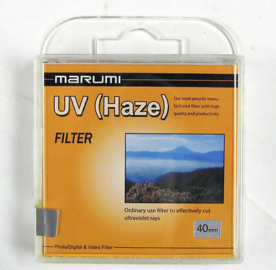 Marumi 40mm 40 mm UV Clear Filter - Fits Fuji x10 x20 Cameras MAUVF40