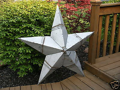 2-24''Rusted*Metal*Star*Barn*Old*Roof*Rusty*Sign*Texas*Silver Unique Primitive