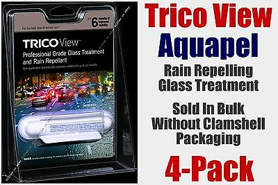 Aquapel Trico View Glass Treatment Rain Repelling 4-6 Month Professional 4-Pack