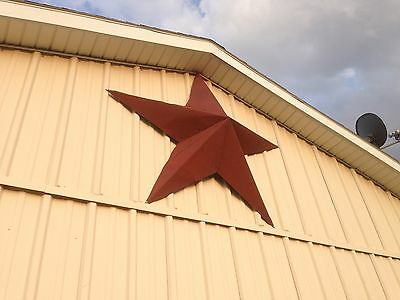 24''Rusted*Metal*Star*Barn*Old*Roof*Rusty*Sign*Red*Unique Primitive Handmade