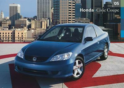 2005 Honda Civic Coupe ORIGINAL Factory Postcard my1091