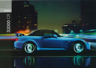 2008 Honda S2000 CR ORIGINAL Factory Postcard my1124