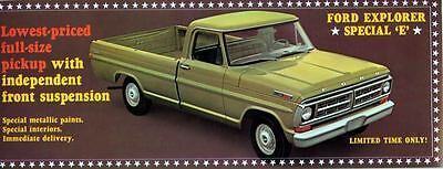 1971 Ford Explorer Special E Pickup Truck ORIGINAL Large Factory Postcard my1180