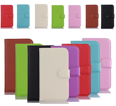 PU Leather Magnetic Flip Wallet Stand Bracket Case Cover Skin For LG Smart Phone