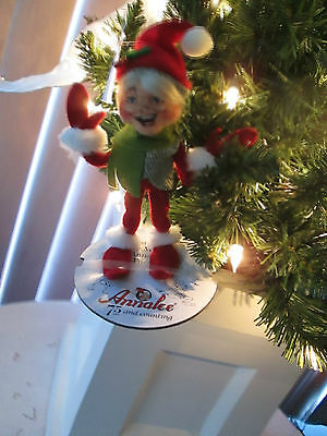 "Annalee Doll 5"" Red Christmas Alpine Elf, 2013, Prestine Condition. NMWT"
