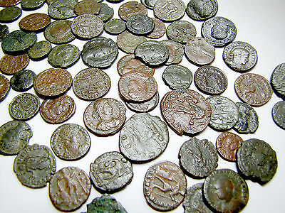 10 Rare  Genuine Ancient Roman Coins Cleaned Nice Lot  Low price From Europe!