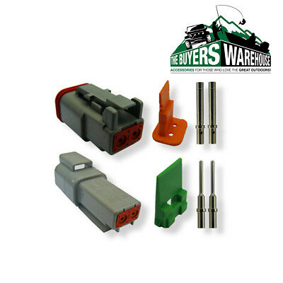 Genuine Deutsch  Dt Series 2 Way Complete Kit Connector