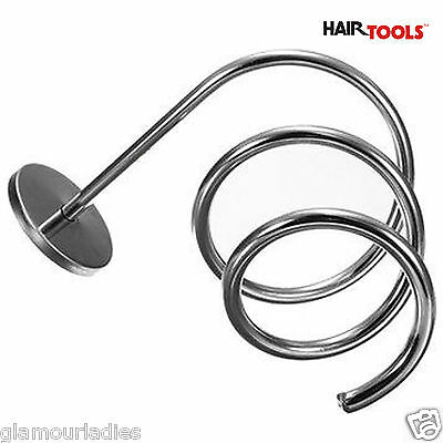 Hair tools Chrome Spiral Wall Mounted Hair Dryer Or Straightener Holder