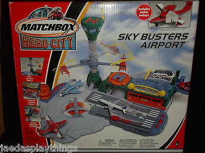 Matchbox Hero City Sky Busters Airport Play Set NOS Hard 2 Find FREE US Shipping