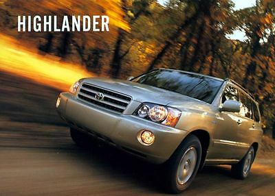 2002 Toyota Highlander SUV Truck ORIGINAL Large Factory Postcard my1286