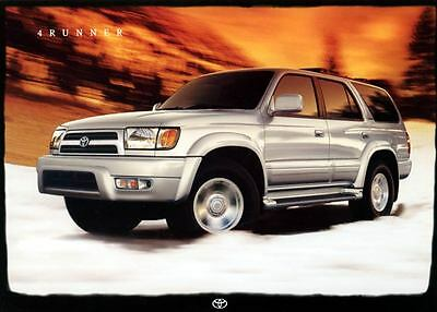 1999 Toyota 4Runner SUV Truck ORIGINAL Large Factory Postcard my1288