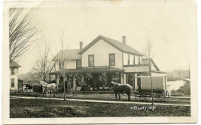 RPPC NY Mallory  J W Genr Growsir (Grocer) near Central Square Oswego County
