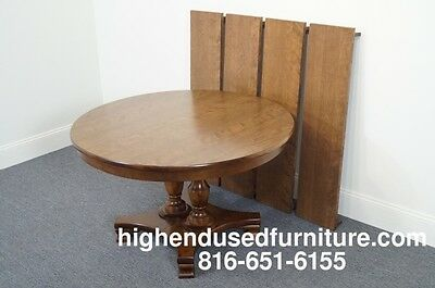 Statton Trutype Solid Cherry Drop Leaf Dining Table