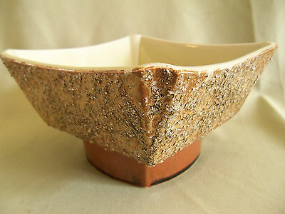 MID-CENTURY ART POTTERY by HAMAMOTO (20th C., Japan); w/ Textured Finish, Signed