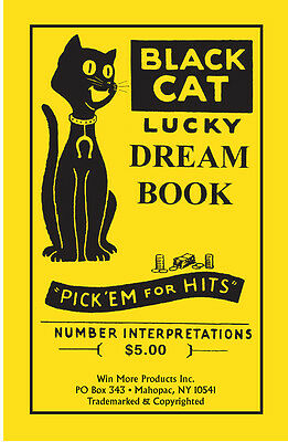 BLACK CAT LUCKY Dream Book - Lottery Book - Numerology Guide