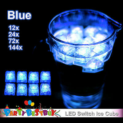 New Switch Blue Ice Cube LED Lights Party Wedding Christmas Glow in the Dark
