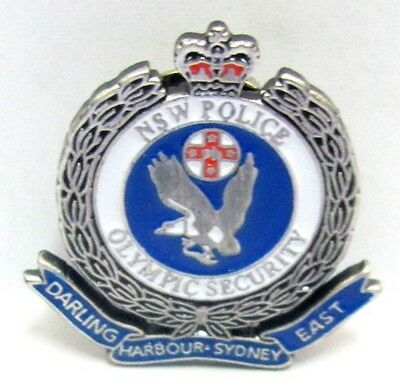 Silver Darling Harbour Police Security Sydney Olympic Games 2000 Pin Badge #435
