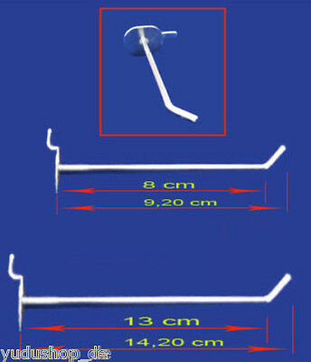 Hooks for Slat Wall for Euro-Hole and Display Wall Stand