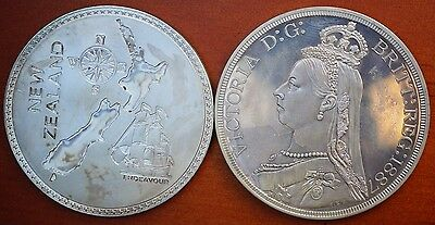 New Zealand 1887 Proof Retro Pattern Model Set .925 Silver - Only 1 Set Minted