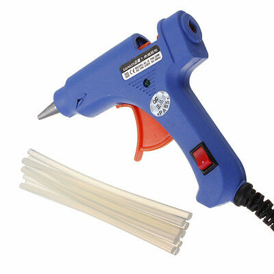 20W Electric Hot Heating Melt Glue Gun with 10x Adhesive Sticks LC845