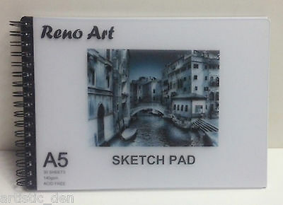 Sketch pad 140 gsm A5 L Drawing pad Cartridge pad Spiral sketch pad Pastel pad