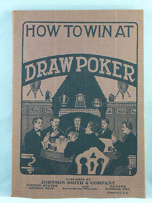 HOW TO WIN AT DRAW POKER Card Playing Gambling Softcover No Date