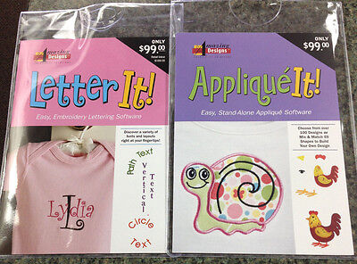 Amazing Designs LETTER IT & APPLIQUE IT Embroidery Machine Software ComboAD-LIAI