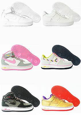 Scarpe Nike Air Force 1 One GS Bianche Alte Basse Uomo Donna Sneakers Nuovo