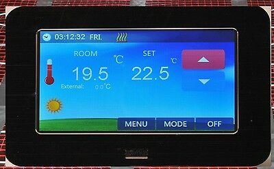 Digital Raumthermostat LCD Color Touchscreen 4,3 inch Fußbodenheizung CTS black