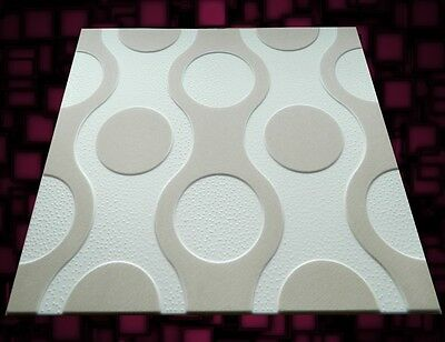 POLYSTYRENE TILES  PANELS WALL CEILING (Pack of 64) 16 Sqm - BEIGE
