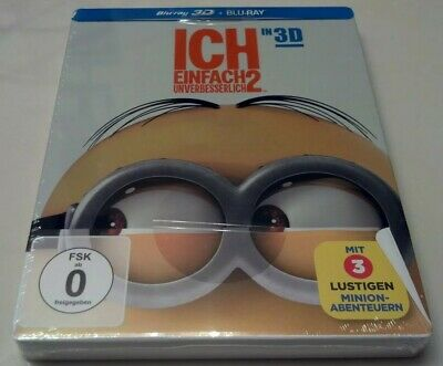 *READ PLS* Despicable Me 2 3D STEELBOOK (Blu-ray, Germany) REGION FREE *SEALED*