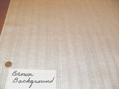 COTTON LINEN open weave Woven Stripe DRAPERY FABRIC lots available 1970s vintage