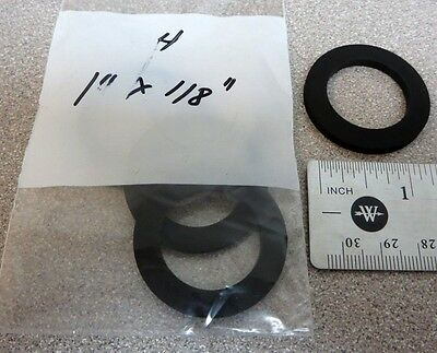 """1"""" Rubber Water Meter Gasket Washers, Pack of 4, for 1"""" water meters, 1/8"""" thick"""