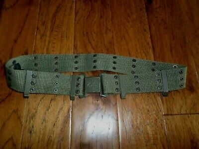 Genuine Austrian Military Army Combat Pistol Belt And Buckle Heavy Web Material