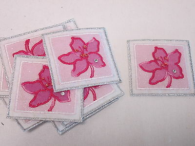 Embroidered White Gold Retirement Card Making Crafts Motif Patch Badge #40B20
