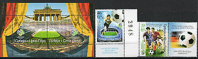 Serbia Montenegro Calcio Germania 2006 stamps BF