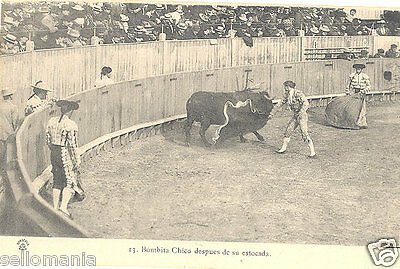 Antigua Postal Toros Bombita Chico Despues Estocada Torero Old Postcard  Cc00174