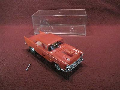 Vintage/custom 1:24? Scale Slot Car 1957 Bel Aire W/ Display Case - Red #438