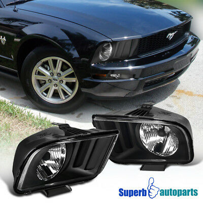 2005-2009 Ford Mustang Euro Style OEM Headlights Lamp Black