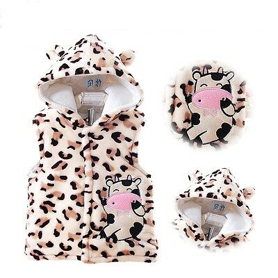 Christmas Little Cow baby Hoodies Fleece All in One Onesie Snow Suit Playsuit
